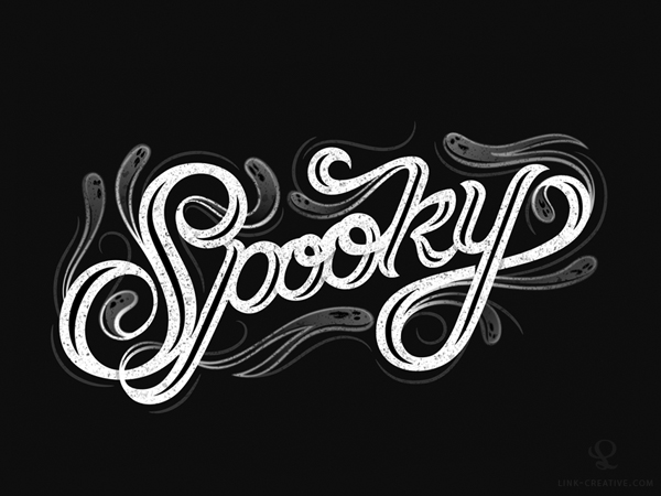 Spooky custom lettering