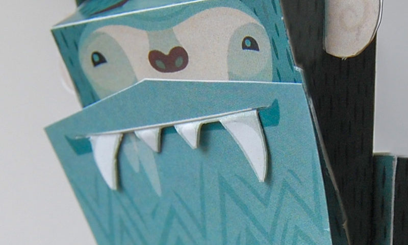 Not so Abominable Paper Toy