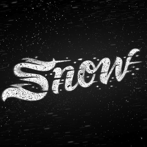 Snow Lettering